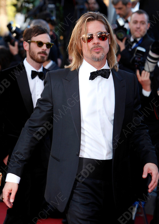 22.MAY.2012. CANNES<br /> <br /> CELEBS ATTEND THE KILLING THEM SOFTLY FILM PREMIERE AT THE 65TH CANNES FILM FESTIVAL. <br /> <br /> BYLINE: EDBIMAGEARCHIVE.CO.UK<br /> <br /> *THIS IMAGE IS STRICTLY FOR UK NEWSPAPERS AND MAGAZINES ONLY*<br /> *FOR WORLD WIDE SALES AND WEB USE PLEASE CONTACT EDBIMAGEARCHIVE - 0208 954 5968*