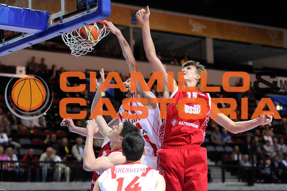 DESCRIZIONE : Klaipeda Lithuania Lituania Eurobasket Men 2011 Preliminary Round Georgia Russia<br /> GIOCATORE : Viktor Sanikidze<br /> SQUADRA : Georgia<br /> EVENTO : Eurobasket Men 2011<br /> GARA : Georgia Russia<br /> DATA : 01/09/2011<br /> CATEGORIA : schiacciata<br /> SPORT : Pallacanestro <br /> AUTORE : Agenzia Ciamillo-Castoria/C.De Massis<br /> Galleria : Eurobasket Men 2011<br /> Fotonotizia : Klaipeda Lithuania Lituania Eurobasket Men 2011 Preliminary Round Georgia Russia<br /> Predefinita :