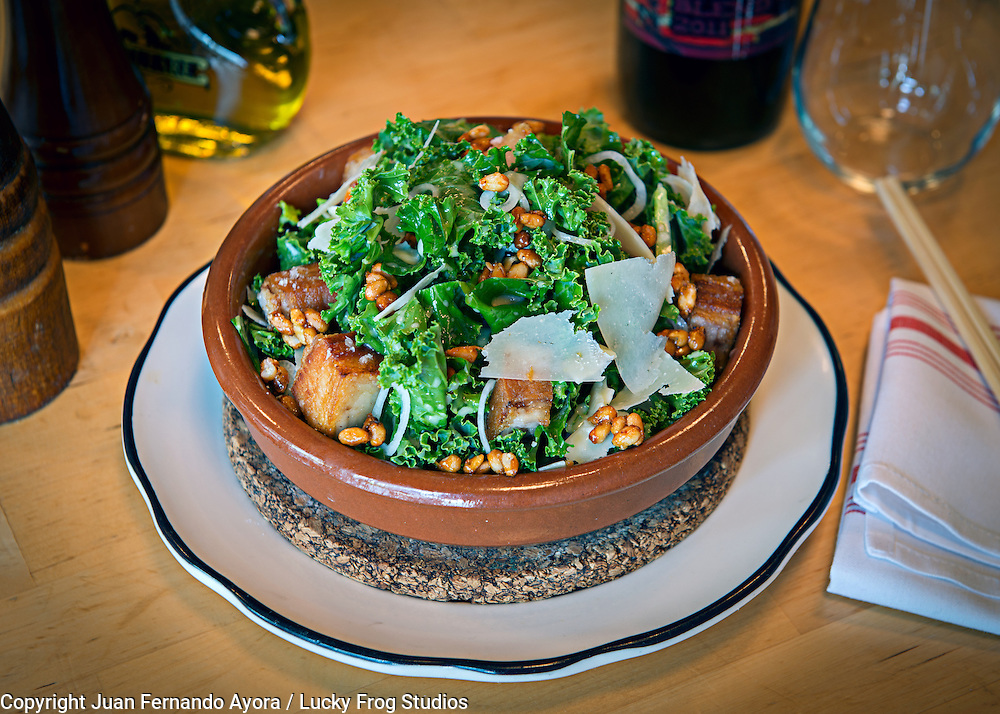 Krispy Porkbelly &amp; Kale Salad by Pubbelly<br />