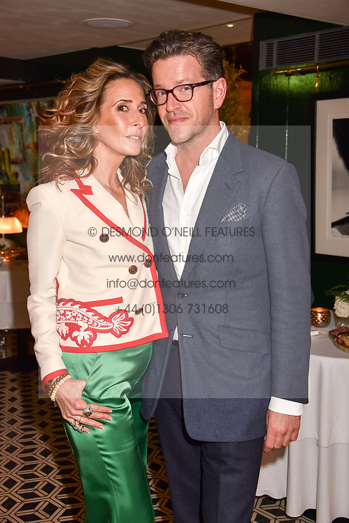 Tara Bernerd and Tommy Foxcroft at a party to celebrate the publication of Place by Tara Bernerd held at il Pampero at The Hari, 20 Chesham Place, London, England. 8 March 2017.