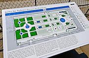 Map of the Tuileries Garden, Paris, France