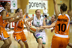 Mojca Markovic at basketball qualification match of women division B  between National teams of Slovenia and Netherlands, on August 27, 2008, in Vitranc Hall, Kranjska Gora. Win of NED 83:81. (Photo by Vid Ponikvar / Sportida)