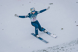 15.02.2020, Kulm, Bad Mitterndorf, AUT, FIS Ski Flug Weltcup, Kulm, Herren, im Bild Timi Zajc (SLO) // Timi Zajc of Slovenia during his Jump for the men's FIS Ski Flying World Cup at the Kulm in Bad Mitterndorf, Austria on 2020/02/15. EXPA Pictures © 2020, PhotoCredit: EXPA/ Dominik Angerer