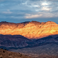 Sunset from Mesquite Springs in Death Valley