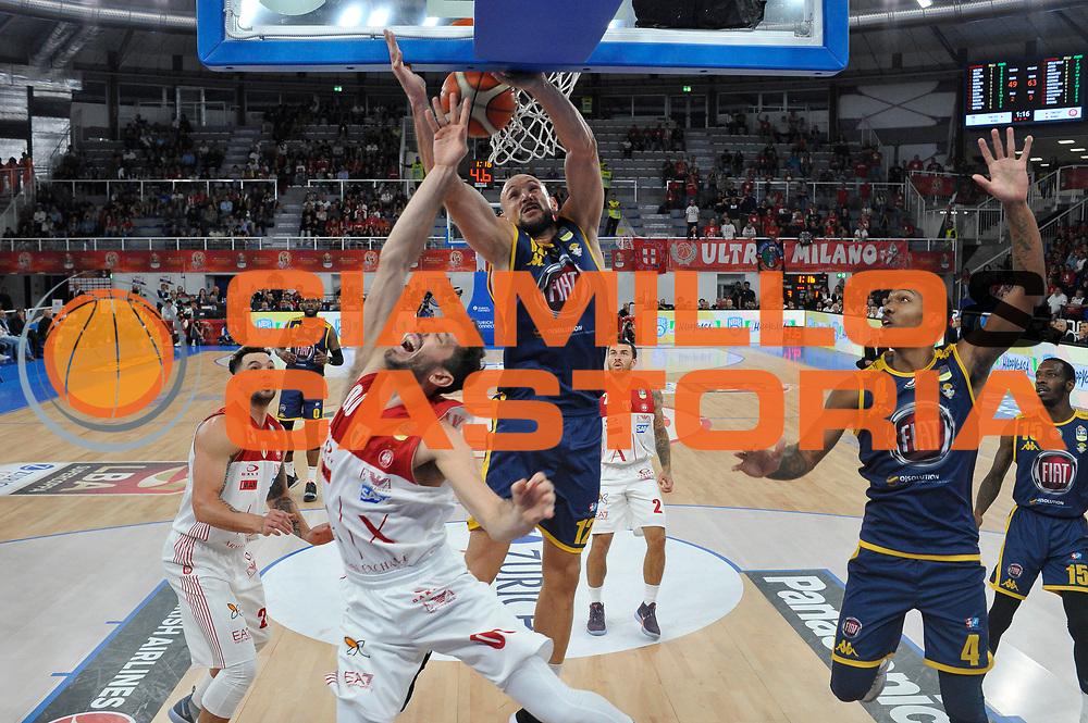 Cusin Marco, Della Valle<br /> A|X Armani Exchange Milano - Fiat Torino<br /> Zurich Connect Supercoppa 2018-2019<br /> Lega Basket Serie A<br /> Brescia 30/09/2018<br /> Foto Ciamillo & Castoria