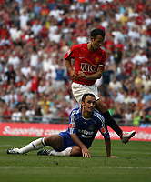 Photo: Rich Eaton.<br /> <br /> Manchester United v Chelsea. FA Community Shield. 05/08/2007. Man United's Ryan Giggs scores the opening goal of the game past Ricardo Carvalho