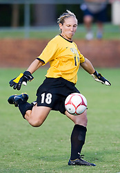 VCU Rams goalkeeper Lauren Hardison (18) in action against UVA.  The Virginia Cavaliers defeated the VCU Rams 5-0 in women's soccer at Klockner Stadium on the Grounds of the University of Virginia in Charlottesville, VA on August 31, 2008.