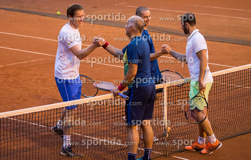 Uros Mesojedec, Blaz Jakic, Goran Belic and Aljaz Kos at  Petrol VIP tournament 2018, on May 24, 2018 in Sports park Tivoli, Ljubljana, Slovenia. Photo by Vid Ponikvar / Sportida