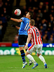 Erik Lamela of Tottenham Hotspur and Glenn Whelan of Stoke City  - Mandatory by-line: Matt McNulty/JMP - 18/04/2016 - FOOTBALL - Britannia Stadium - Stoke, England - Stoke City v Tottenham Hotspur - Barclays Premier League