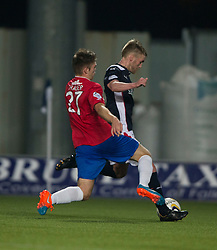 Falkirk's Craig Sibbald scoring their goal. <br /> Falkirk 1 v 0 Cowdenbeath, William Hill Scottish Cup game played 29/11/2014 at The Falkirk Stadium.