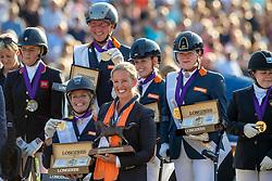Team Netherlands, Van Der Horst Rixt, Den Dulk Nicole, Voets Sanne, Hosmar Frank<br /> European Championship Para-Dressage<br /> Rotterdam 2019<br /> © Hippo Foto - Dirk Caremans
