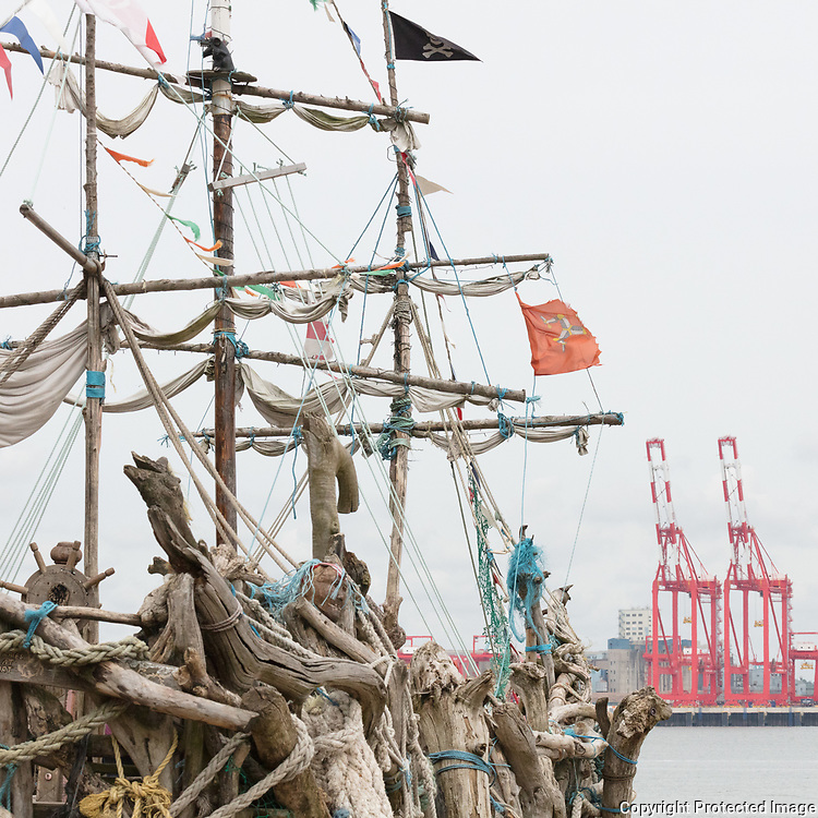 The Black Pearl pirate ship, built unfunded by Frank Lund & Major Mace, New Brighton, Merseyside.