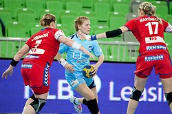 during handball match between Women National Teams of Slovenia and Czech Republic of 4th Round of EURO 2012 Qualifications, on March 25, 2012, in Arena Stozice, Ljubljana, Slovenia. (Photo by Urban Urbanc / Sportida.com)