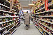 aisle in a supermarket France Europe