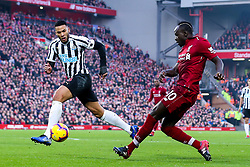Sadio Mane of Liverpool takes on Jamaal Lascelles of Newcastle United - Mandatory by-line: Robbie Stephenson/JMP - 26/12/2018 - FOOTBALL - Anfield - Liverpool, England - Liverpool v Newcastle United - Premier League