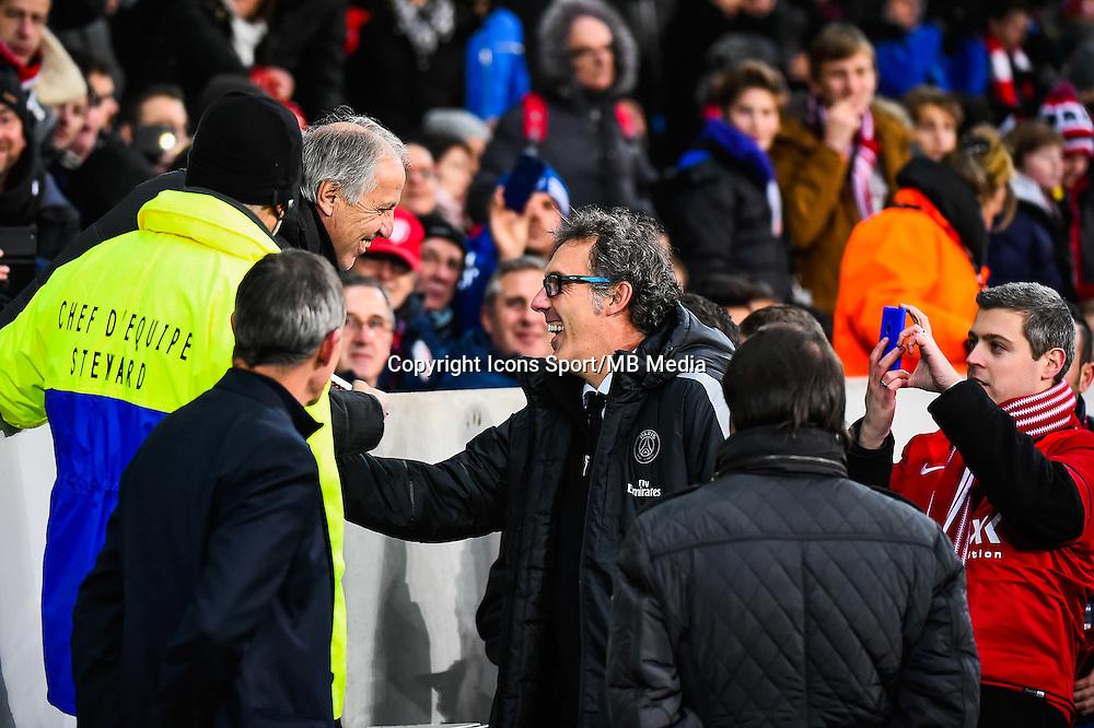 Rene GIRARD / Laurent BLANC - 03.12.2014 - Lille / Paris Saint Germain - 16eme journee de Ligue 1 -<br />Photo : Fred Porcu / Icon Sport