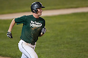 West Deptford's Ed Essig watches his hit go over the fence for a home run during the opening round of the Mid-Atlantic Senior League regional tournament held in West Deptford on Friday, August 5.