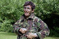 School cadet force training  in UK secondary school