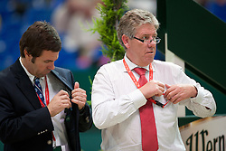 Coursebuilder Rothenberger Frank (GER) and his assistant Guilherme Jorge<br /> Rolex FEI World Cup Final Jumping Leipzig 2011<br /> © Dirk Caremans