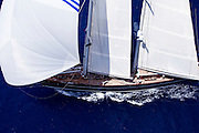Meteor racing in the St. Barth's Bucket Regatta.