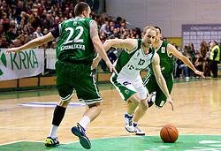 Bojan Krivec of Krka during basketball match between KK Krka and Union Olimpija Ljubljana of Round 7th of ABA League 2011/2012, on November 12, 2011 in Arena Leon Stukelj, Novo mesto, Slovenia. (Photo By Vid Ponikvar / Sportida.com)