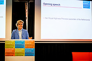 UTRECHT - Princess Laurentien gives an opening speech at the international conference on higher education for students with a disability. For two days, educational professionals from the Netherlands and abroad talk about the accessibility of higher education, but also about student well-being. copyriught robin utrecht