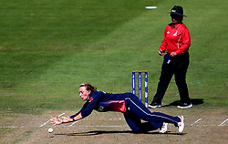 Danielle Hazell of England Women dives to stop the ball - Mandatory by-line: Robbie Stephenson/JMP - 05/07/2017 - CRICKET - County Ground - Bristol, United Kingdom - England Women v South Africa Women - ICC Women's World Cup Group Stage