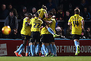 Phil Edwards scores for Burton during the Sky Bet League 2 match between Wycombe Wanderers and Burton Albion at Adams Park, High Wycombe, England on 17 November 2014.
