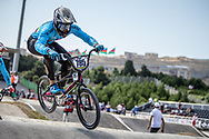 Men Elite #785 (CALIXTO LOPEZ Miguel Alejandro) COL the 2018 UCI BMX World Championships in Baku, Azerbaijan.