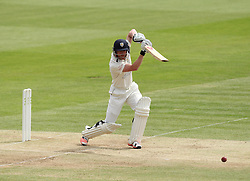 Durham's Paul Collingwood hits through cover - Photo mandatory by-line: Robbie Stephenson/JMP - Mobile: 07966 386802 - 04/05/2015 - SPORT - Football - London - Lords  - Middlesex CCC v Durham CCC - County Championship Division One