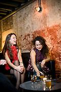 Kristi Steine and Rosanny Abreu at Fox Liquor Bar in Raleigh, NC.