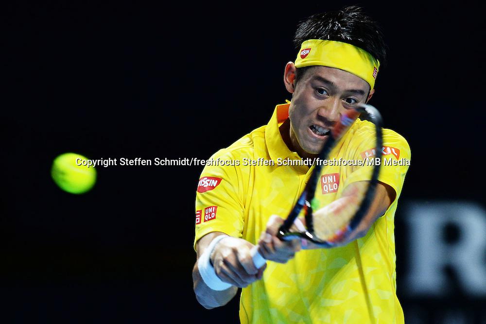 28.10.2016;  Basel; Tennis - Swiss Indoors 2016; Kei Nishikori (JPN)<br /> (Steffen Schmidt/freshfocus)