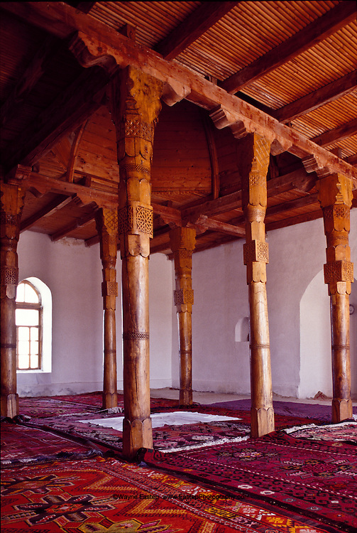 Kazakh Muslims regard the 11th century mosque named after Arystan Bab as the holy of holies in Kazakhstan.  This Muslim cleric lived in Otrar in southern Kazakhstan during the 11th century and is credited with the peaceful spread of Islam, and through it, of the Arabic language and alphabet.  He was the teacher of Hodja Akhmed Yasavi.  Pilgrims to Turkestan first stop at the arystan Bab Mausoleum.