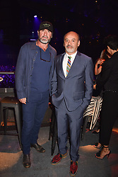 """Eric Cantona and Christian Louboutin at """"Hoping For Palestine"""" Benefit Concert For Palestinian Refugee Children held at The Roundhouse, Chalk Farm Road, England. 04 June 2018."""