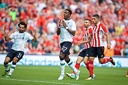 DUBLIN, REPUBLIC OF IRELAND - Saturday, August 5, 2017: Liverpool's Divock Origi looks dejected after missing a chance against during a preseason friendly match between Athletic Club Bilbao and Liverpool at the Aviva Stadium. (Pic by David Rawcliffe/Propaganda)
