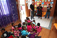A Stars in Our Eyes Educare visits around Khayelitsha in Cape Town, South Africa on 20 January 2014<br /> <br /> Photo by Shaun Roy / Sportzpics