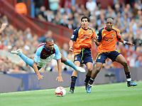 Aston Villa/Manchester City Premier League 17.08.08 <br /> Photo: Tim Parker Fotosports International<br /> John Carew Aston Villa & Kelvin Etuhu Manchester City