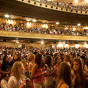 May 26, 2012 - New York, NY : Fans wait for pop sensation 'One Direction,' to take the stage for a matinee performance at the Beacon theater in Manhattan on  Saturday afternoon. The group is on the road for their first-ever headlining North American tour in support of their debut album UP ALL NIGHT. CREDIT: Karsten Moran for The New York Times