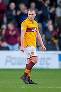Liam Grimshaw (#14) of Motherwell FC during the Ladbrokes Scottish Premiership match between Motherwell FC and Heart of Midlothian FC at Fir Park, Stadium, Motherwell, Scotland on 17 February 2019.