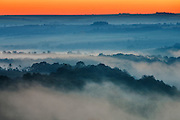 Mists at morning in the river canyon