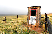 WY02408-00...WYOMING - Outhouse at Willow Creek Ranch.
