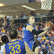 Delaware Guard Kyle Anderson (13) drive to the basket in the second half of a NCAA regular season Colonial Athletic Association conference game between Delaware and Drexel Sunday, Feb 23, 2014 at The Bob Carpenter Sports Convocation Center in Newark Delaware.