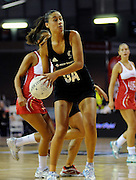 Maria Tutaia in action, during New World Netball Series, New Zealand Silver Ferns v England at The ILT Velodrome, Invercargill, New Zealand. Thursday 6 October 2011 . Photo: Richard Hood photosport.co.nz