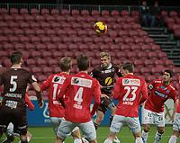 Fotball ,  OBOS-Ligaen<br /> 22.10.17<br /> Gjemselund kunstgress<br /> Kongsvinger v Mjøndalen  3-2<br /> Foto :  Dagfinn Limoseth , Digitalsport<br /> Jonathan Lindseth, Mjøndalen