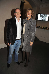SIMON & SANTA SEBAG-MONTEFIORE at a party to celebrate the publication of 'Past Imperfect' by Julian Fellowes held at Cadogan Hall, 5 Sloane Terrace, London SW1 on 4th November 2008.