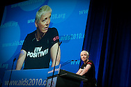 Austria, Vienna. XVIII International AIDS Conference 2010. Opening Ceremony.Photo shows:  Annie Lennox, Goodwill Ambassador for the UN Programme on HIV/AIDS   ..©IAS/Steve Forrest/Workers' Photos