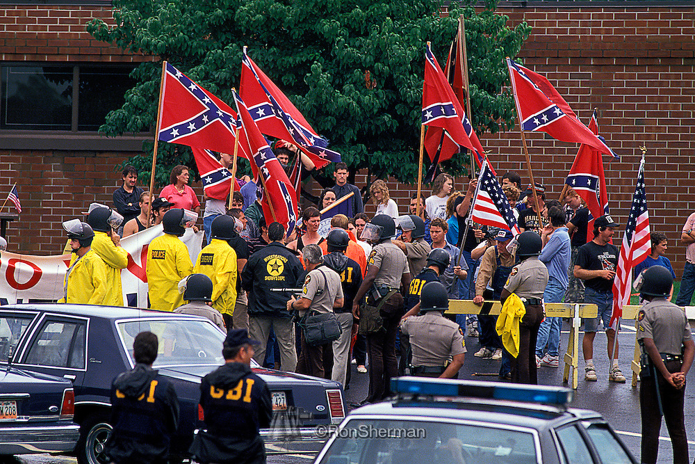 Ku Klux Klan Protest Rally against Hosea Williams civil right march in Forsyth County GA in 1992