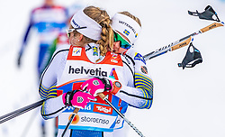 24.02.2019, Langlauf Arena, Seefeld, AUT, FIS Weltmeisterschaften Ski Nordisch, Seefeld 2019, Langlauf, Damen, Teambewerb, im Bild v.l. Stina Nilsson (SWE), Maja Dahlqvist (SWE) // f.l. Stina Nilsson of Sweden and Maja Dahlqvist of Sweden during the ladie's cross country team competition of FIS Nordic Ski World Championships 2019 at the Langlauf Arena in Seefeld, Austria on 2019/02/24. EXPA Pictures © 2019, PhotoCredit: EXPA/ Stefan Adelsberger