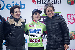 Ane Santesteban Gonzalez (ESP) of WNT Rotor Pro Cycling celebrates retaining the best Basque rider's jersey after Stage 3 of 2019 Emakumeen Bira, a 98 km road race from Murgia to Santa Teodosia, Spain on May 24, 2019. Photo by Balint Hamvas/velofocus.com