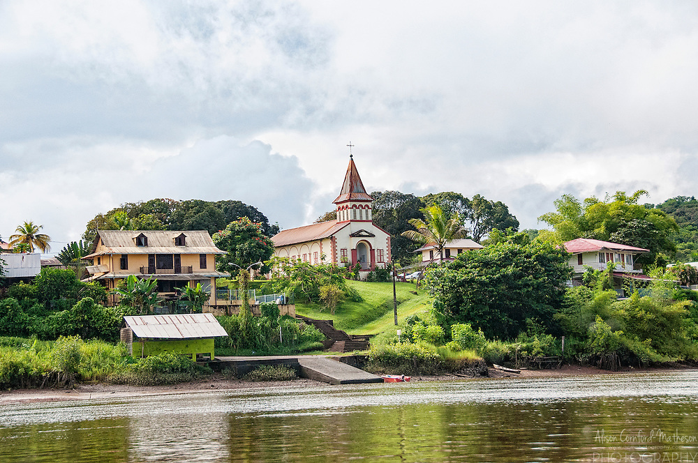The village of Roura in French Guiana, France's Overseas territory in South America